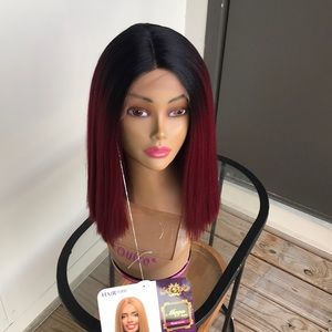 Wig Burgundy Hair Topic lace Front